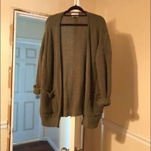 Universal Thread Green Oversized Cardigan